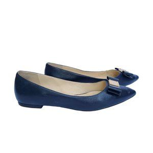 COLE HAAN Dark Blue Leather Dressy Flats 9B